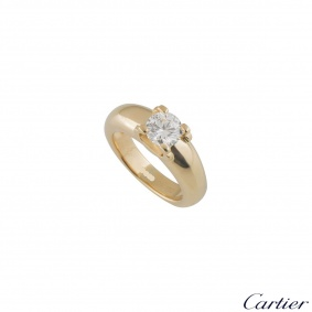 Yellow Gold C De Cartier Diamond EngagementRing 1.01ct G/VVS2